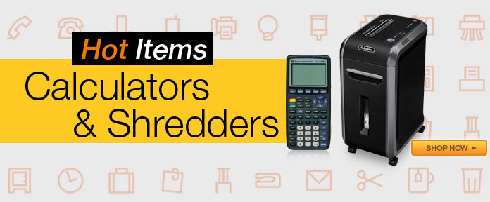 Hot Items calculators & shredders