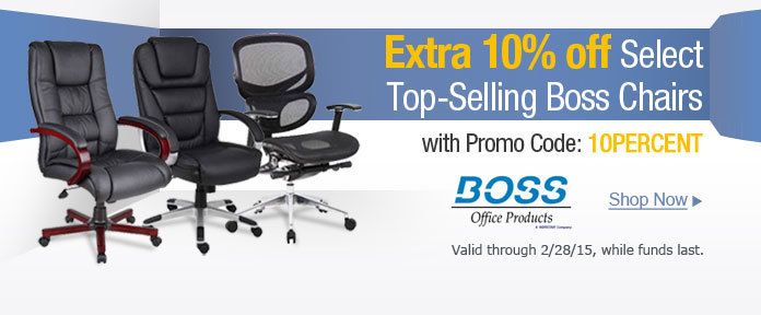 Extra 10% off select top-selling boss chairs