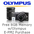 Free 8GB Memory w/ Olympus E-PM2 Purchase