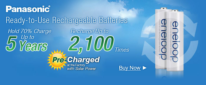 Panasonic Ready to use Rechargeable Batteries