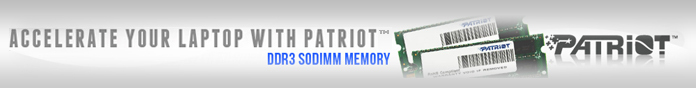 Accelerate your laptop with Patriot