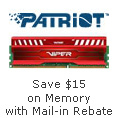 Save $15 on Memory with Mail-in Rebate