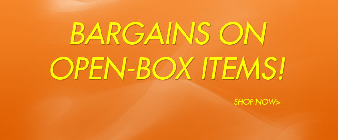 Bargains on open-box items