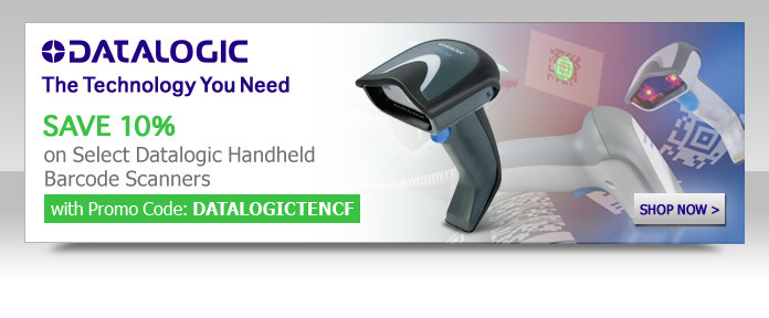 SAVE 10% on All Datalogic Handheld Barcode Scanners Below with Promo Code