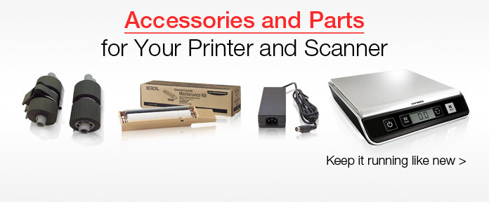 Accessories and parts for your printer and scanner