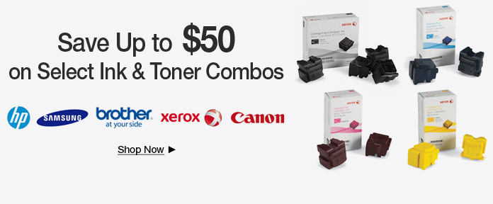 Save Up to $50 on Ink & Toner Combos