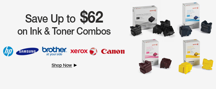 Save Up to $62 on Ink & Toner Combos Below