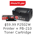$59.99 P2502W Printer+PB-210 Toner Cartridge
