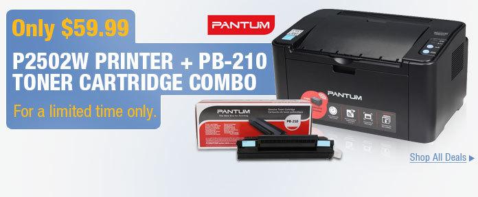 $59.99 P2502W Printer+PB-210 Toner Cartridge