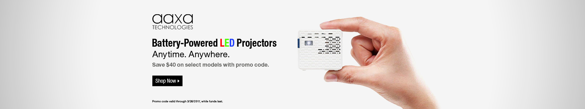 Battery-Powered LED Projectors