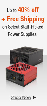 Up to 40% off + Free Shipping on Select Staff-Picked Power Supplies