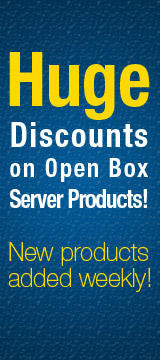Huge discounts on open box server products