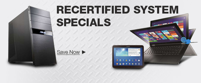 Recertified Systems Sale