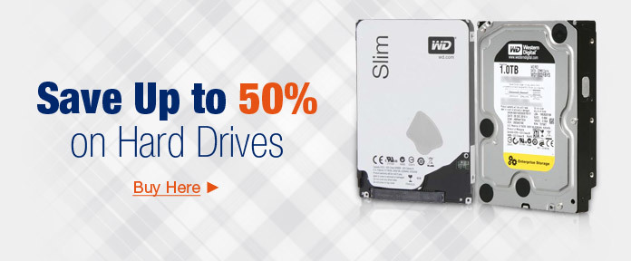 Save Up to 50% on Hard Drives