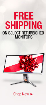 Free shipping on select refurbished monitors