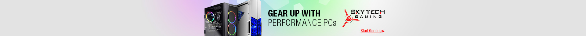 GEAR UP WITH PERFORMANCE PCs
