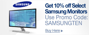 Get 10% off select Samsung Monitors