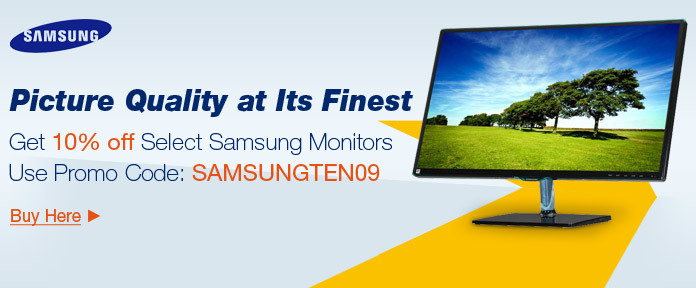 Get 10% off Select Samsung Monitors Use Promo Code