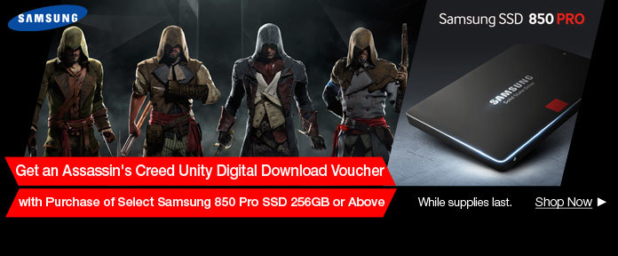 Assassin's Creed Free with Samsung 850 Pro SSD Purchase