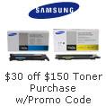 $30 off $150 Samsung Toner Purchase with Promo Code: SAMSUNGFEB15