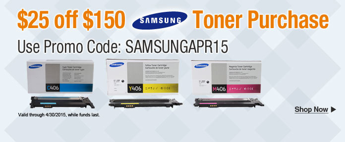 $25 off $150 Toner Purchase