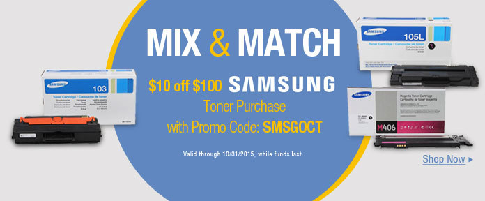 $10 off $100 Toner Purchase