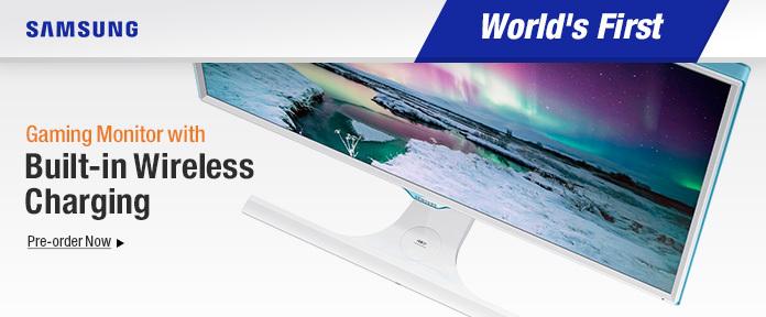 World's First Monitor With Built-in Wireless Charging