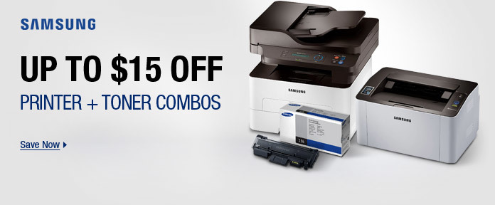 Up to $15 off Printer + Toner Combos