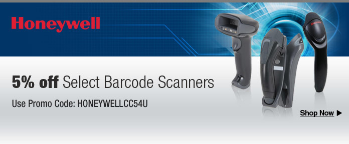 5% off barcode scanners w/ promo code