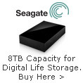 Massive 8TB capacity for digital life storage