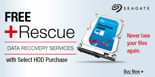 FREE +Rescue Data Recovery Services with Any HDD Purchase Below