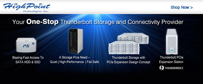 Your One-Stop Thunderbolt Storage and Connectivity Provider