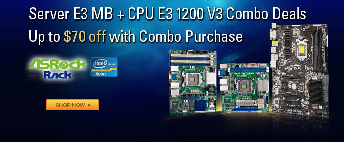 Server E3 MB + CPU E3 1200 V3 Combo Deals