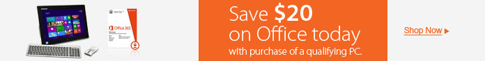 Save $20 on Office today with your Desktop PC