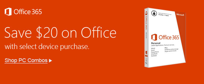 Save $20 on Office with Select Device Purchase