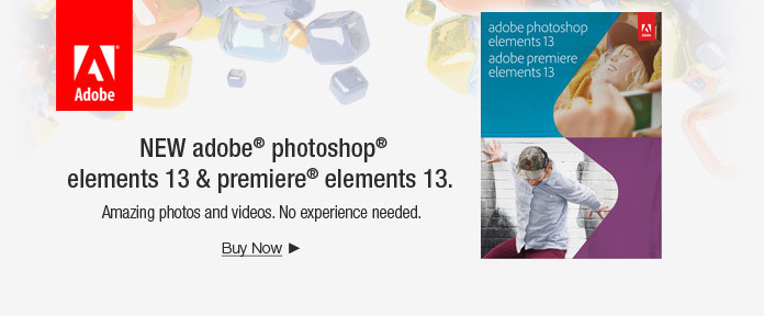 NEW adobe® photoshop® elements 13 & premiere® elements 13.