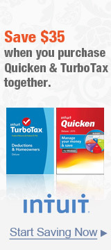Save $35 when you purchase Quicken & TurboTax together