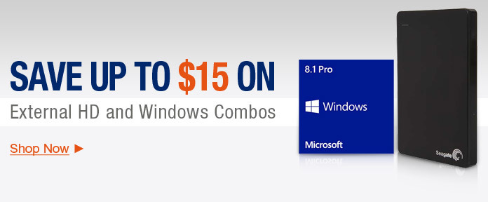 Save Up to $15 on External HD Combos