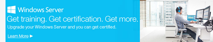 Get training. Get certification. Get more.