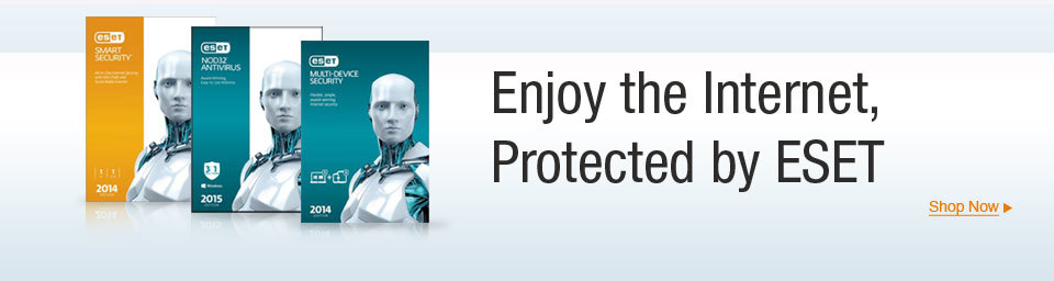 Enjoy the internet, protected by ESET