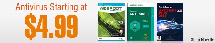 Antivirus Starting at $4.99
