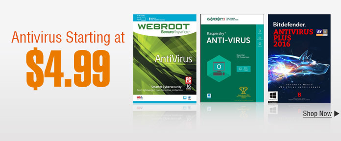 Antivirus Starting at $4.99