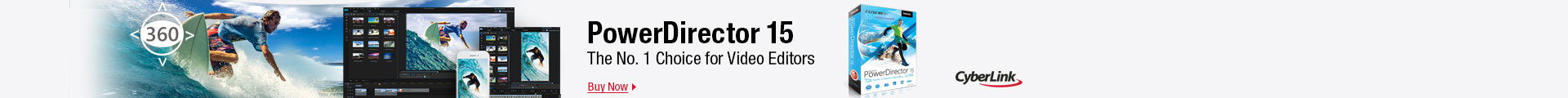 Power director 15: the No.1 choice for video editors