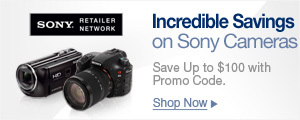 Incredible Savings On Sony Cameras