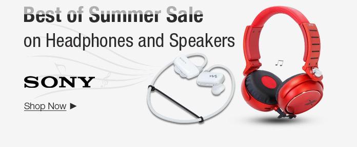 Best of Summer Sale on Headphones and Speakers