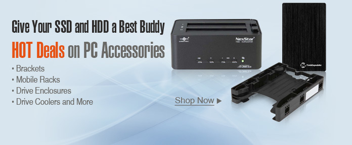 SSD and HDD accessories shop now