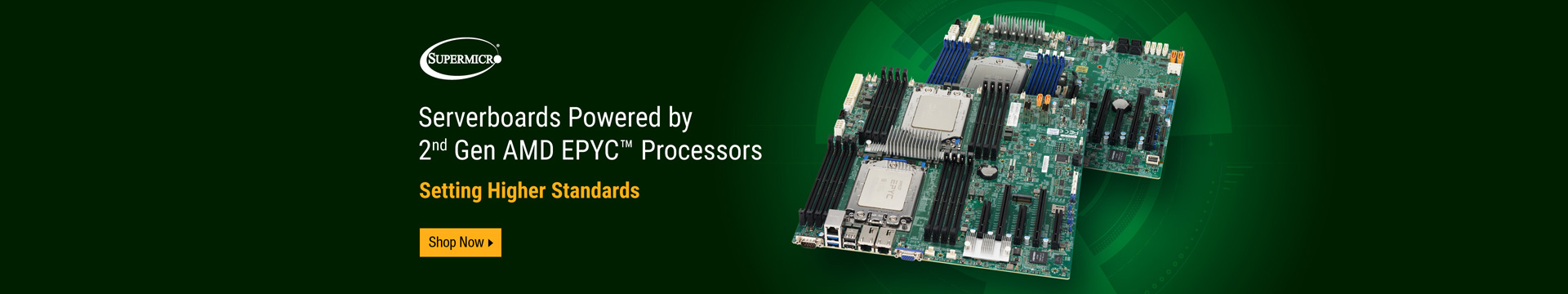 Serverboards Powered by 2nd Gen AMD EPYC™ Processors