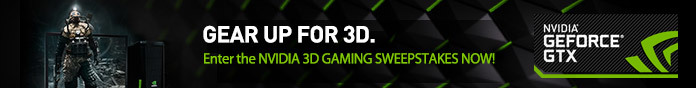 NVIDIA 3D Gaming Sweepstakes