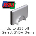 Up to $15 off select SYBA Items