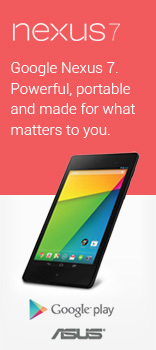 Google Nexus 7. Powerful, portable and made for what matters to you.